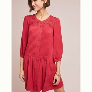 Anthropologie Embroidered Tunic Dress